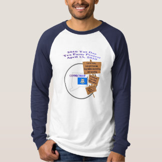 Connecticut 2010 Tax Day Tea Party Long Sleeve T-Shirt