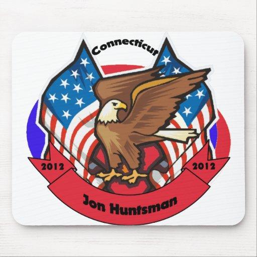 Connecticut 2012 para el Huntsman de Jon Tapetes De Ratones