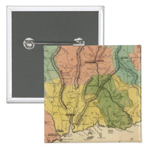 Connecticut 2 pin cuadrada 5 cm