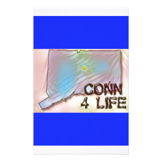 """""""Connecticut 4 Life"""" State Map Pride Design Stationery"""