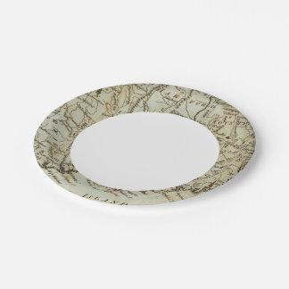 Connecticut 7 paper plate