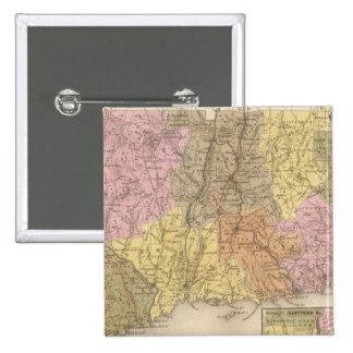 Connecticut 8 2 inch square button