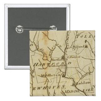 Connecticut 8 pinback button