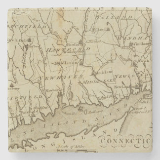 Connecticut 8 posavasos de piedra