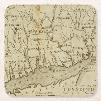 Connecticut 8 posavasos personalizable cuadrado