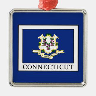 Connecticut Adorno Navideño Cuadrado De Metal