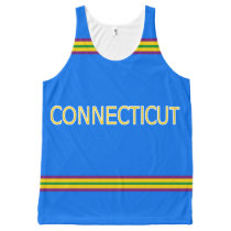 Connecticut All-Over Printed Unisex Tank