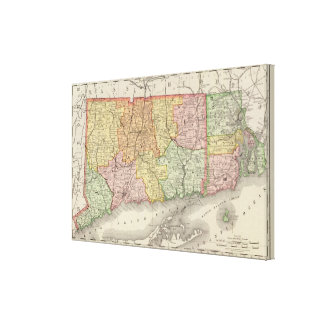 Connecticut and Rhode Island Canvas Print
