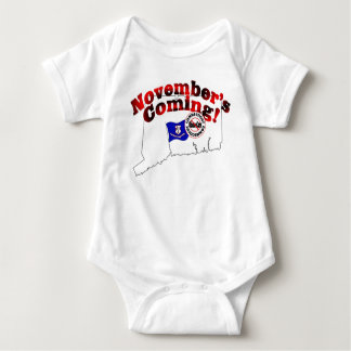 Connecticut Anti ObamaCare – November's Coming! Baby Bodysuit