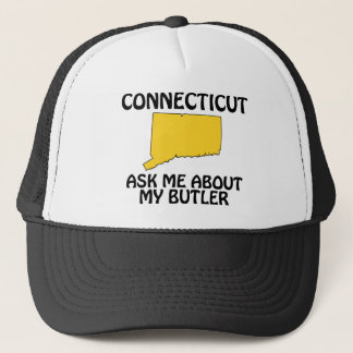 Connecticut - Ask Me About My Butler Trucker Hat