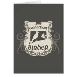 Greeting Card with Connecticut Birder design