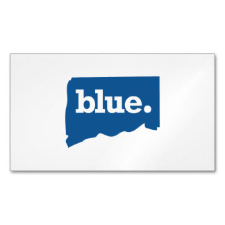 CONNECTICUT BLUE STATE BUSINESS CARD MAGNET