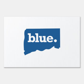 CONNECTICUT BLUE STATE SIGN