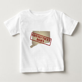 Connecticut Born - Stamp on Map T Shirt