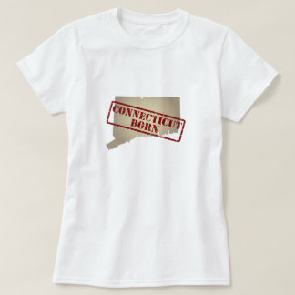 Connecticut Born - Stamp on Map Tee Shirt
