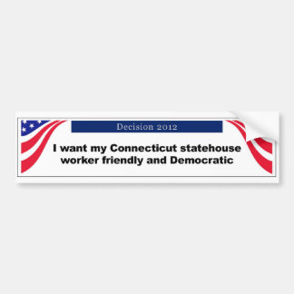 Connecticut bumper sticker car bumper sticker