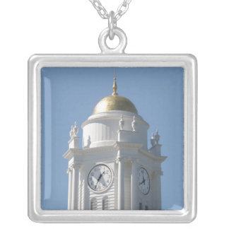 Connecticut Capital Square Pendant Necklace