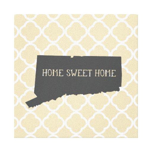 Connecticut casero dulce casero impresión en lienzo estirada