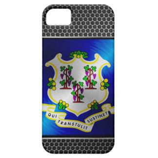 Connecticut cepilló la bandera del metal funda para iPhone SE/5/5s