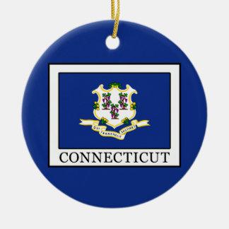 Connecticut Ceramic Ornament