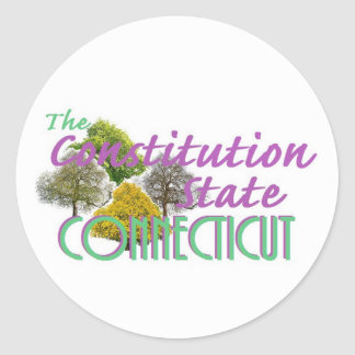 CONNECTICUT CLASSIC ROUND STICKER