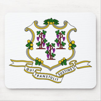 Connecticut Coat of Arms Mouse Pad