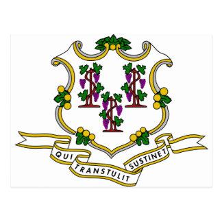 Connecticut Coat of Arms Postcard