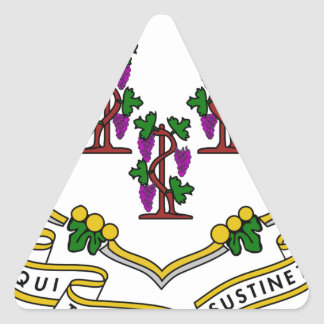 Connecticut Coat of Arms Triangle Sticker