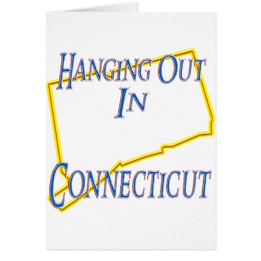 Connecticut - colgando hacia fuera felicitacion