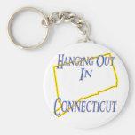 Connecticut - colgando hacia fuera llavero