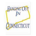 Connecticut - colgando hacia fuera postal