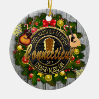 Connecticut Country Music Fan Christmas Ornament