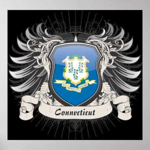 Connecticut Crest Poster