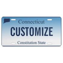 Connecticut Custom License Plate
