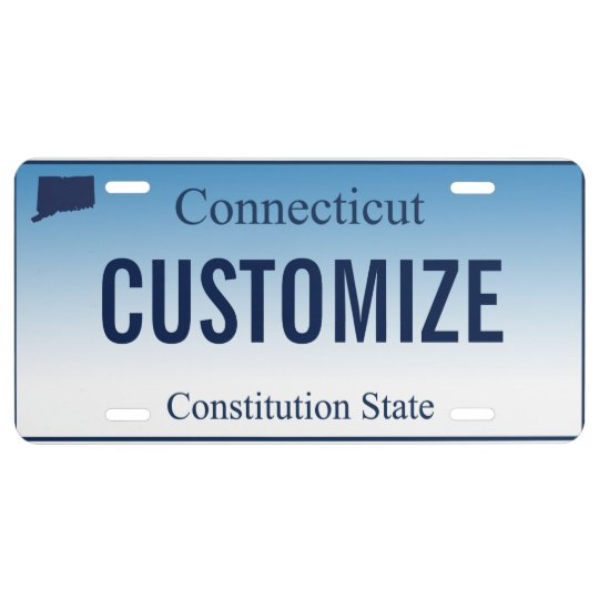 photo relating to Printable License Plate Maker identified as Connecticut Tailor made License Plate
