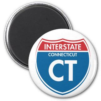 Connecticut de un estado a otro CT Imán Redondo 5 Cm