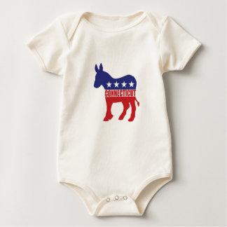 Connecticut Democrat Donkey Baby Bodysuit