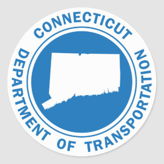 connecticut dept of transportation classic round sticker