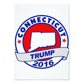 """Connecticut Donald Trump 2016.png Invitación 5"""" X 7"""""""