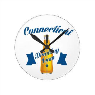 Connecticut Drinking team Round Clock