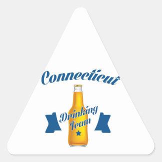 Connecticut Drinking team Triangle Sticker