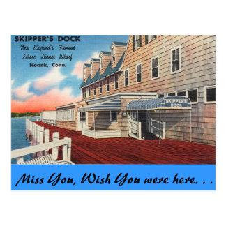 Connecticut, el muelle del capitán tarjetas postales