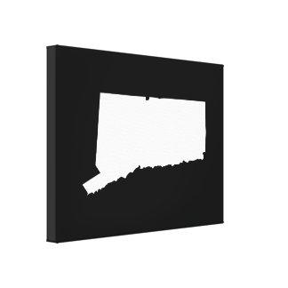 Connecticut en blanco y negro impresiones en lona estiradas