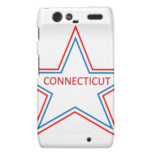 Connecticut en una estrella droid RAZR carcasas