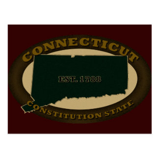Connecticut Est. 1788 Postcard