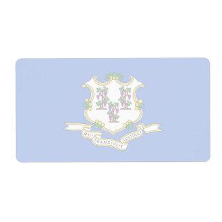 Connecticut Faint Flag Shipping Label