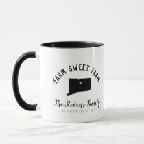 Connecticut Farm Sweet Farm Family Monogram Mug