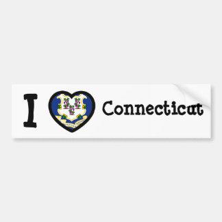 Connecticut Flag Car Bumper Sticker