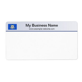 Connecticut Flag Header Shipping Label