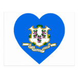 Connecticut Flag Heart Postcards